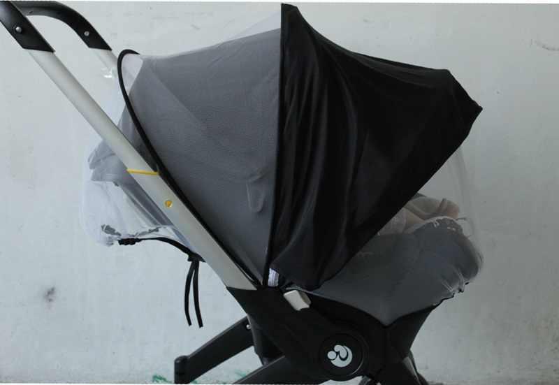 Acessórios de carrinho de bebê assento do carro mosquito net capa protetora pára-sol para doona foofoo e simlar carrinho de carro