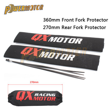 36cm Front Fork Protector 27cm Rear Shock Absorber Guard Wrap Cover For CRF YZF KTM KLX Dirt Bike Motorcycle ATV Quad Motocross motorcycle 350mm rear shock absorber suspension protector protection cover for dirt pit bike crf yzf ktm klx atv quad scooter