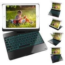 """9,"""" Чехол для клавиатуры для iPad 360 Вращающийся ультратонкий умный чехол для клавиатуры для iPad Pro 9,7/iPad Air 2/Air 1,7 цвет с подсветкой"""