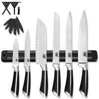 XYj 7 Uds cuchillos de cocina juego de cuchillos magnéticos 8 ''Chef rebanando pan 7'' Santoku 5 ''Utility 3,5'' cuchillos de corte