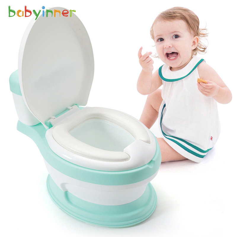 Baby Inner Children Simulation Toilet Urinal 17*12*14in 0-7 Years Boys And Girls Portable Toilet  Potty Training Seat