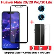 3-in-1 Tempered Glass for Huawei Mate 20 Lite Mate 20Pro Camera Glass Huawei Mate 20 Screen Protector Huawei Mate20 Lite Glass аксессуар защитное стекло для huawei mate 20 lite red line tempered glass ут000016325