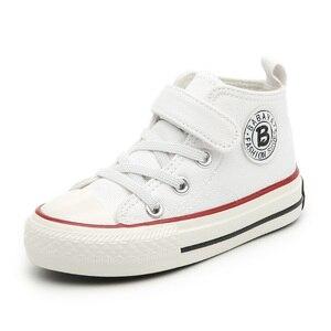 Image 2 - حذاء قماش للأطفال الفتيات أحذية رياضية عالية الفتيان أحذية الشتاء تنفس 2020 الخريف الشتاء موضة الاطفال حذاء كاجوال طفل الأحذية