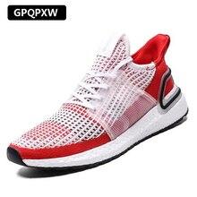 New mesh men casual shoes lac-up men shoes