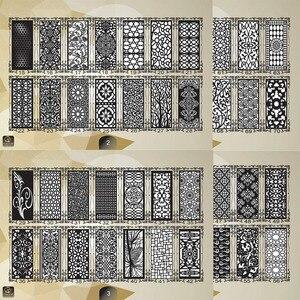 Image 2 - 2000 باب معدني ديكور المنزل حديقة ورقة dxf تنسيق 2d ناقلات تصميم الرسم لجمع ملفات القطع البلازما بالليزر باستخدام الحاسب الآلي