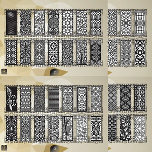 Image 2 - 2000 metal door home garden decor sheet dxf format 2d vector design drawing for CNC laser plasma cutting files collection