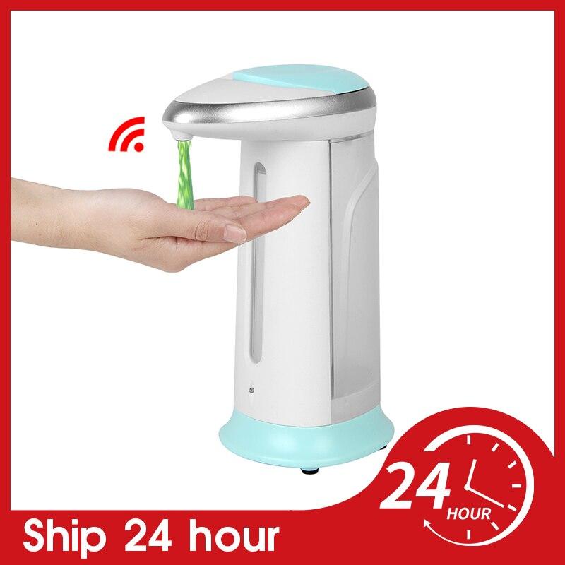 400ml Automatic Liquid Soap Dispenser Touchless Infrared Smart Sensor Hand Sanitizer Soap Dispenser Kitchen Bathroom Desktop