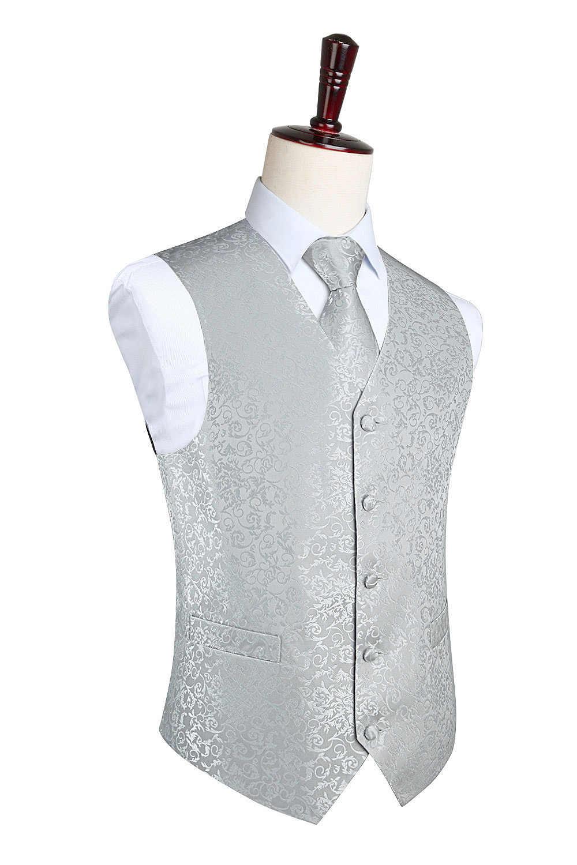 Fashion Color męska wesele Paisley sukienka kamizelka Casual Tuxedo kamizelka krawat kieszonkowy kwadratowy komplet garniturów