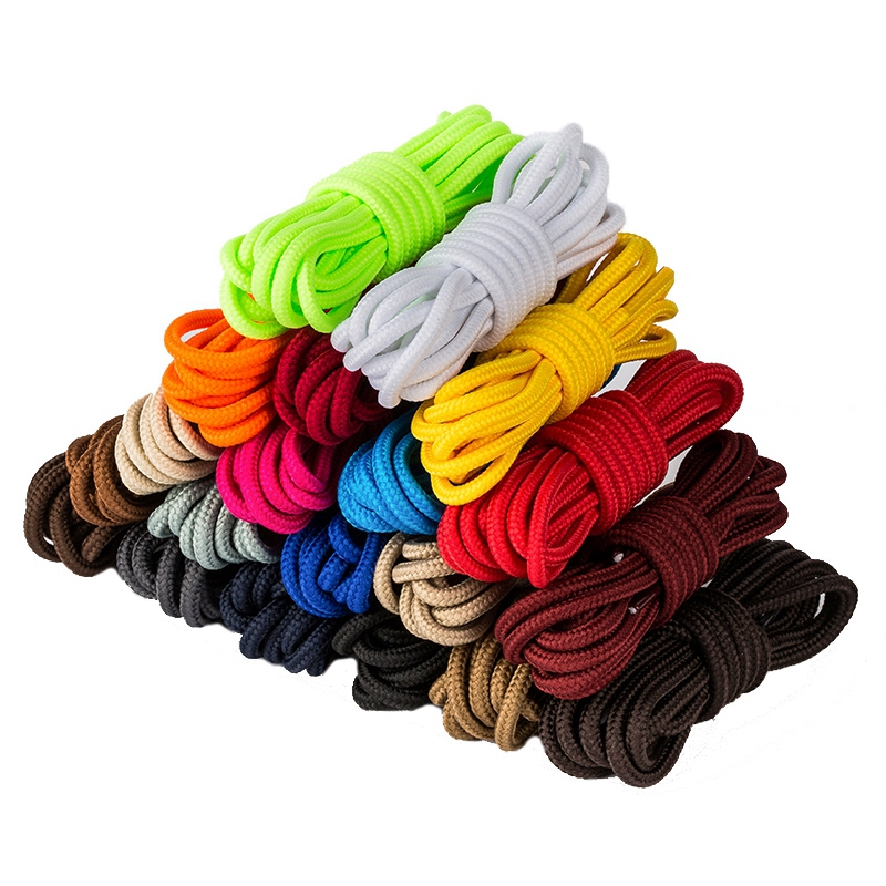 Classic Round Shoelaces Martin Boots Off White Shoe Laces Polyester Solid Outdoor Leisure Sneakers Unisex Shoe Lace 21 Colors