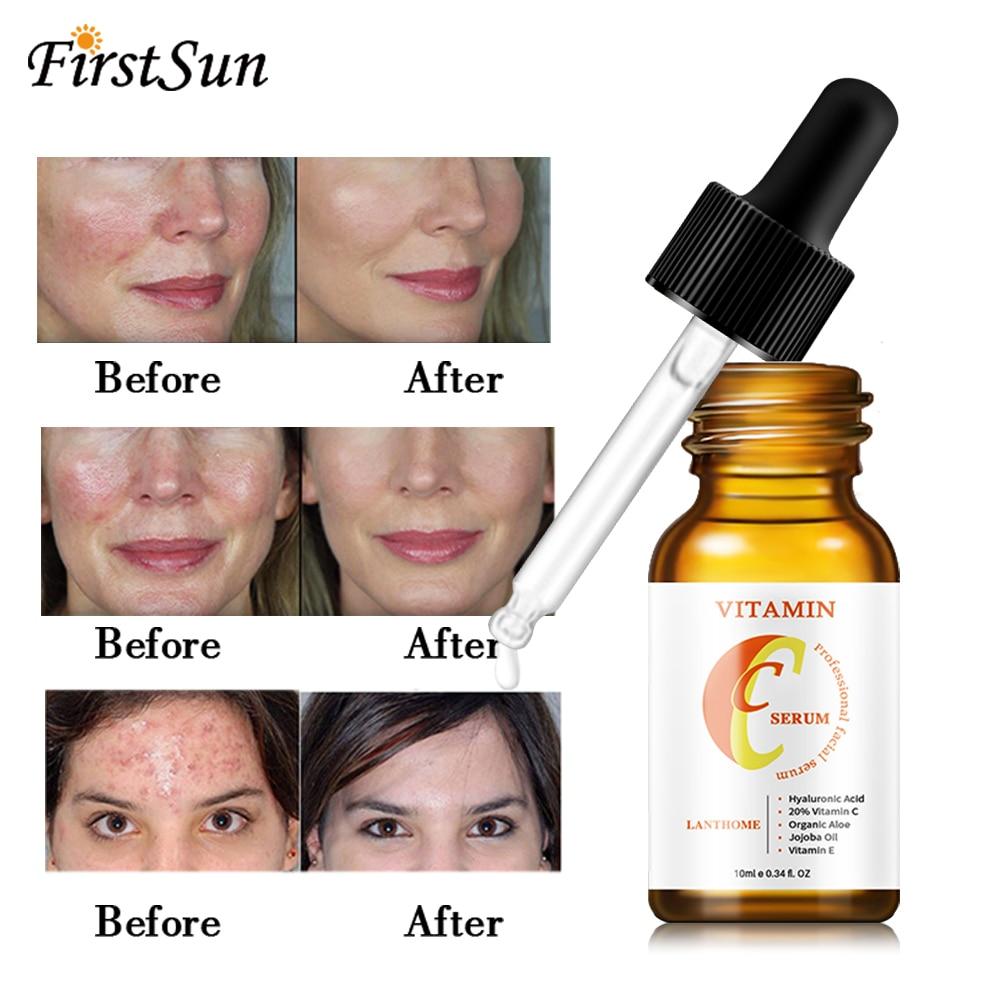 10ML Vitamin C Hyaluronic Acid Whitening Anti Aging Fade Dark Spot Anti Wrinkle Firming Facial Essence Serum Moisturizing Skin