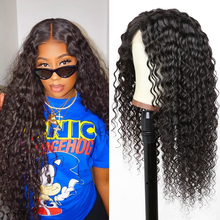 Lace Wig Human-Hair-Wigs Water-Wave-Wig Curly Wavy Long Brazilian Transparent And Wet