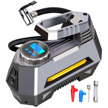 Портативный воздушный компрессор шин насос для автомобильных покрышек с цифровым манометром(150 Psi 12V DC) яркий аварийный фонарик