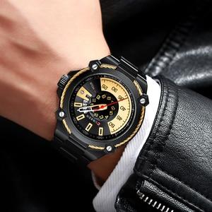 Image 5 - Marka mężczyźni zegarki biznesowe ze stali nierdzewnej CURREN kwarcowy zegarek wojskowy moda przyczynowy mężczyzna zegar Auto data Relogio Homem