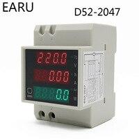 DIN rail Multi function LED Digital Meter AC 80 300V 200 450V 0 100A Active Power Factor Electric Energy Ammeter Voltmeter DIY|Energy Meters|   -
