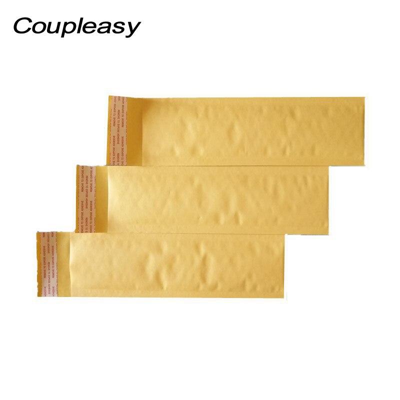20 pcs forma longa kraft papel bolha mailer a prova de choque envio envelopes com bolha