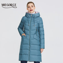 MIEGOFCE 2019 New Winter Women's Jacket Coat Simple Women Parkas Warm Winter Women's Coat High-Quality Biological-Down Parkas(China)