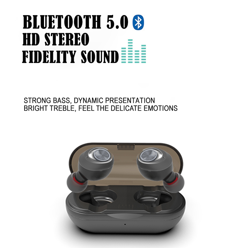 Capsule mini <font><b>TWS</b></font> Wireless Earbuds V5.0 Bluetooth Earphone Headset Deep Bass Stereo Sound Sport Earphones For xiaomi Iphone image