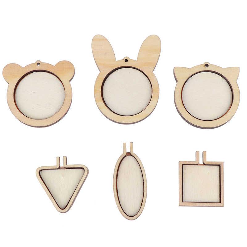 1 مجموعة صغيرة خشبية الصليب نسج هوب حلقة التطريز دائرة مجموعة الخياطة الحرفية الإطار