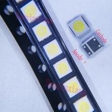 500 adet/grup Everlight 3030 SMD LED boncuk 3V soğuk beyaz 1.5W TV arka aydınlatma uygulaması