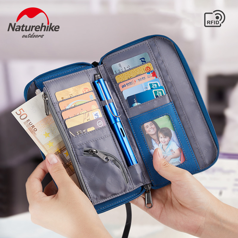 Naturehike Passport Travel Wallet Passport Holder Multi-Function Credit Card Package ID Document Multi-Card Storage Pack Clutch