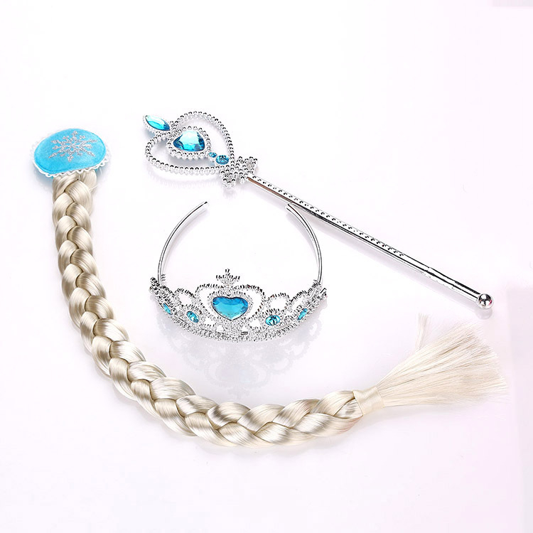 Frozen 2 Children's Toys Crown Elsa Anna Princess Baby Girls Hair Accessory For Kids Disney Wig Braid Magic Wand Birthday Party