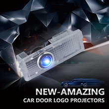 2pcs/lot For Mini Welcome Light Car Door Logo Projector Shadow Lamp