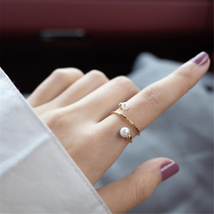 Image 2 - YKNRBPH Yellow 14K Gold Adjustable Pearl Ring For Womens Weddings Fine Jewelry Rings