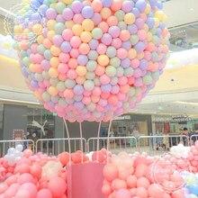 50 pçs 5 polegada 10 polegada balões de látex macarone balões coloridos decoração do casamento feliz aniversário celebração balão de hélio