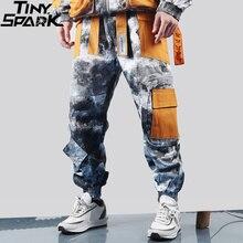 Hip Hop Camouflage Cargo Pants Streetwear Men Harajuku Tactical Pants Multi Pocket 2019 Baggy Pants HipHop Harem Trousers Casual