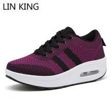 Lin king/Женская дышащая обувь с сетчатым верхом; Повседневные