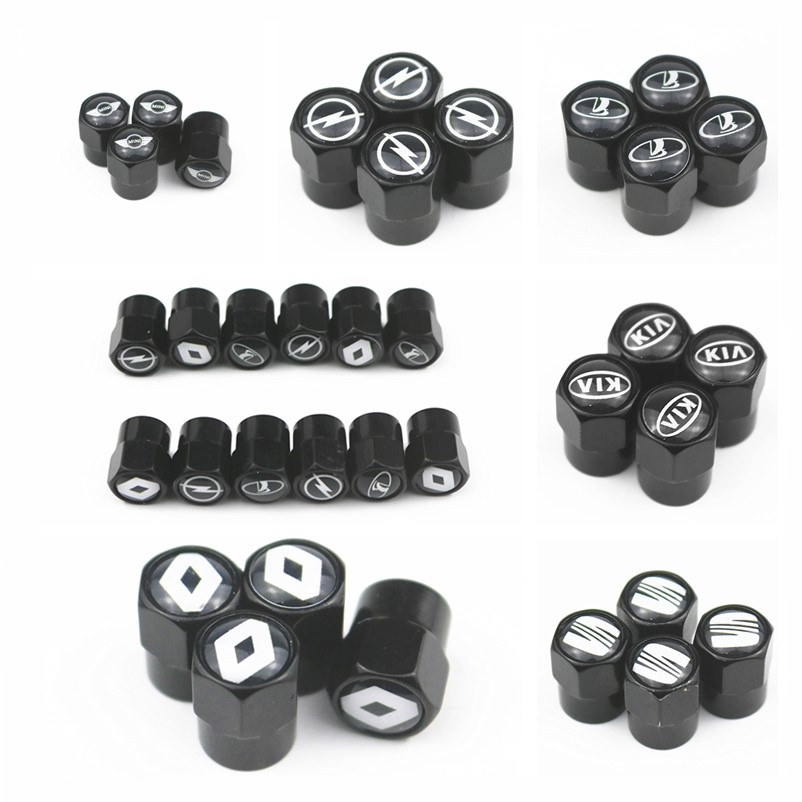 100pcs Car Styling Car Wheel Tire Stem Covers Valve Caps For Audi Bmw Vw Benz Skoda Opel Toyota Nissan Accessories Automobiles