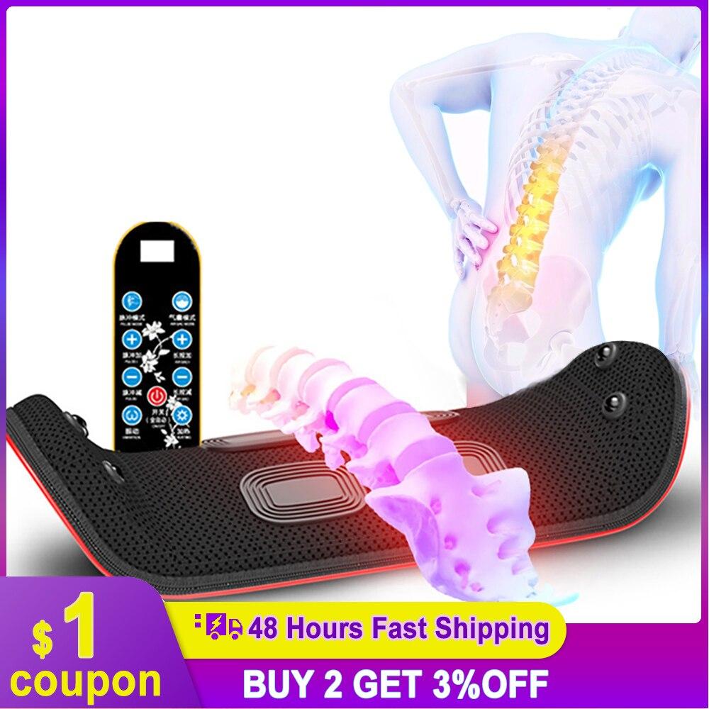 Электрический нагревательный поясной массажер для спины надувной вибрационный Поясничный позвоночник поддержка тяговое устройство магни...