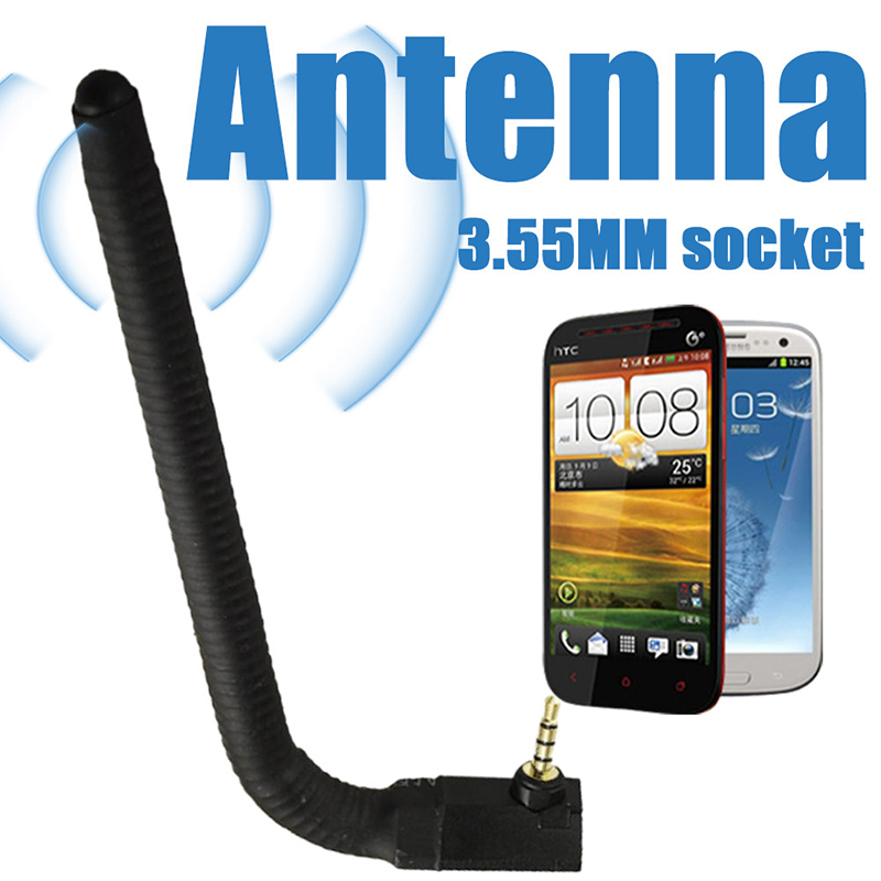 Wide Range Of Use And Curved 5dBi 3.5mm Jack External Antenna Signal Strengthen Booster For Mobile Cell Phone