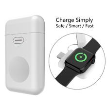 For iWatch 1 2 3 4 Wireless Charger Portable 1000mAH Micro USB 5V 1A Mini Battery Power Bank for Apple Watch Charger Base 45w 14 5v 3 1a 60w 16 5v 3 65a magsaf 1 for macbo k air 1113 a1244 a1304 a1369 a1370 a1374 a1184 a1330 a1344 a1278 a1342