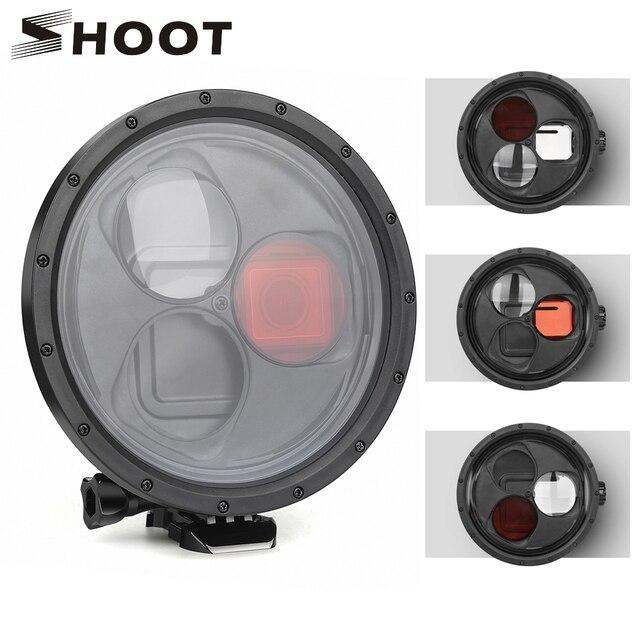 تبادل لاطلاق النار ل GoPro بطل 7 6 5 اكسسوارات مقاوم للماء مع الأحمر عدسة ترشيح تحت الماء الإسكان غطاء ل الذهاب برو بطل 7 6 5 الأسود