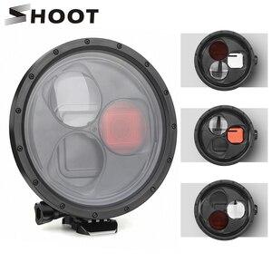 Image 1 - SHOOT pour GoPro Hero 7 6 5 accessoires boîtier étanche avec lentille de filtre rouge couvercle de boîtier sous marin pour Go Pro Hero 7 6 5 noir