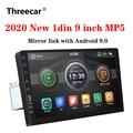 Новинка 2020, автомобильный мультимедийный плеер 9 дюймов, 1 Din, автомобильное радио, Bluetooth, USB, камера заднего вида, MP5 плеер, Авторадио без android