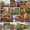 HUACAN Oil Painting By Numbers City Scenery Acrylic Drawing Canvas Picture For Adults Home Decoration Gift Wall Art