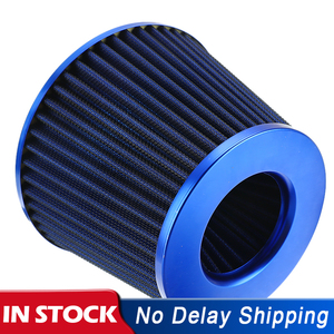 Image 1 - New Car Air Filter Performance High Flow Cold Intake Filters Induction Kit Sport Power Mesh Cone 55MM to 76MM Auto Accessories