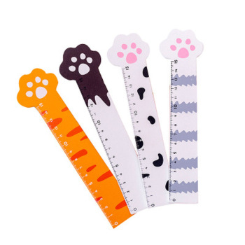 Cat Claw Cute Ruler Design Stationery Novel Cartoon Rules Student Set of Drafting Kawaii School Supplies - discount item  40% OFF Drafting Supplies
