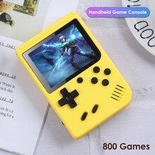 800 في 1 ريترو لعبة فيديو وحدة التحكم 3.0 بوصة يده لعبة لاعب جيب صغير غمبد المدمج في 800 الكلاسيكية لعبة للأطفال هدية