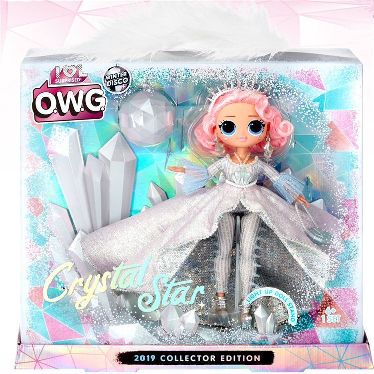 LOL. Surprise Doll OMG Crystal Star Winter Disco Crystal Star Collectible Edition Fashion Doll Girl Toy Gift Birthday Gift