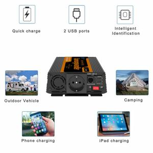 Image 5 - EDECOA  DC 12V to AC 220V 1000w peak 2000w pure sine wave power inverter with remote control and USB 5V 2.1A