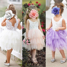 Tulle Dress Kids Infant Party Cake Smash Outfit