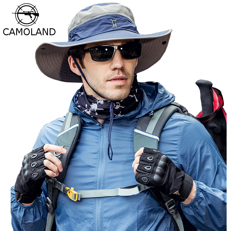CAMOLANAD UPF 50+ Bucket Hats Men Women Sun Hat Outdoor Waterproof Fishing Caps Long Wide Brim UV Protection Hiking Beach Cap