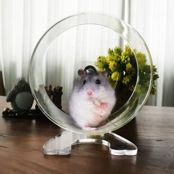 Hamster Exercise Wheel Silent Spinner Gerbil Hamster Cage Running Exercise Wheel Small Pets Toy Hamster Accessories