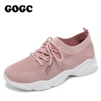 GOGC respirant maille sneaker femmes baskets décontractées chaussures de sport 2020 printemps été à lacets femmes chaussures femme G692