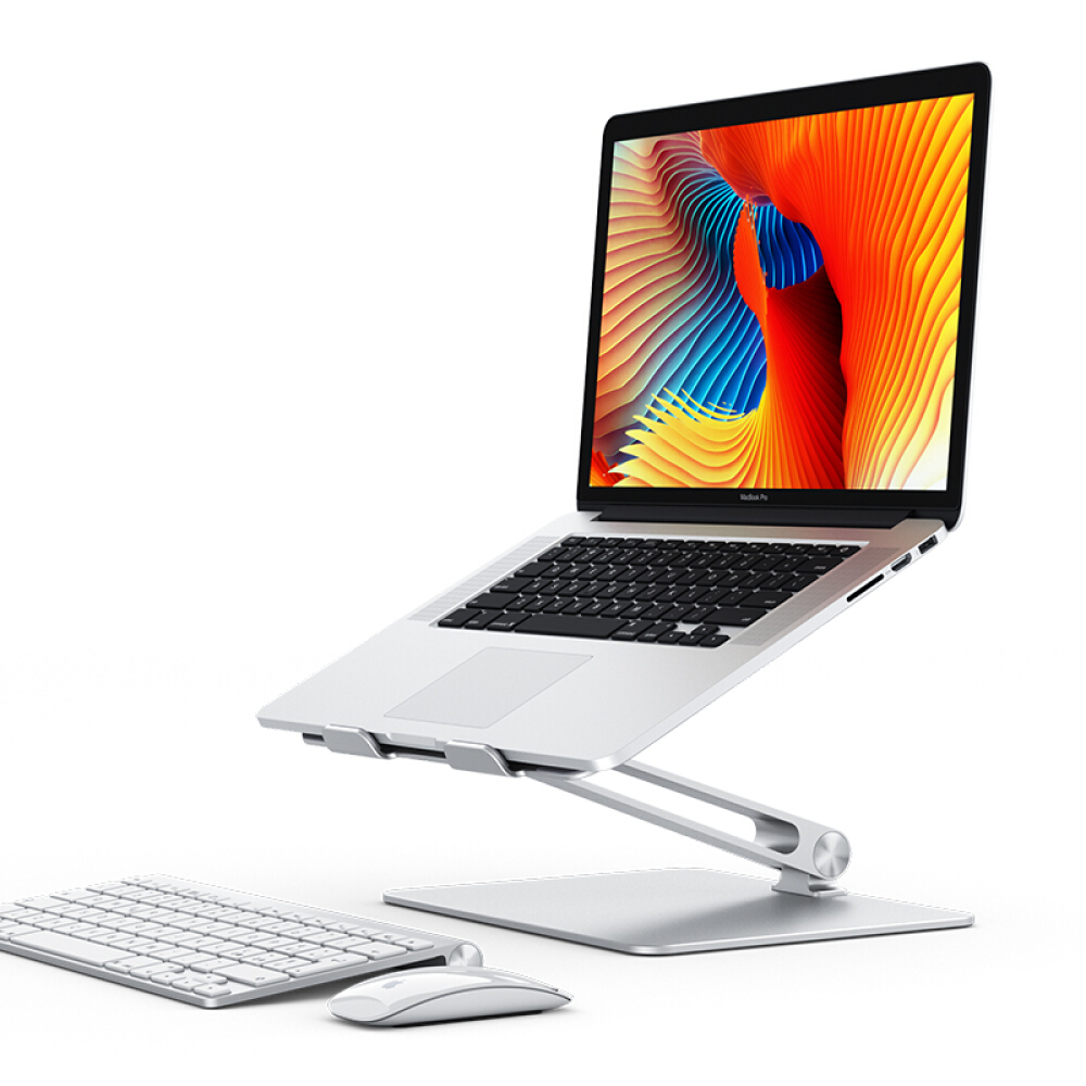 Notebook Stand Adjustable Angle Aluminum Alloy Free Lift Laptop Heighten Holder for Macbook Dell HP iPad Pro 7-17 inch