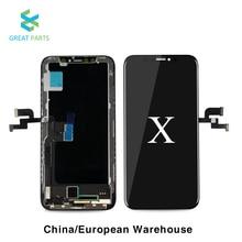 Reemplazo de pantalla Lcd para iPhone X, programador de digitalizador de pantalla táctil, reemplazo de ensamblaje de pantalla táctil 3D, para Iphone 11 PRO Max XR