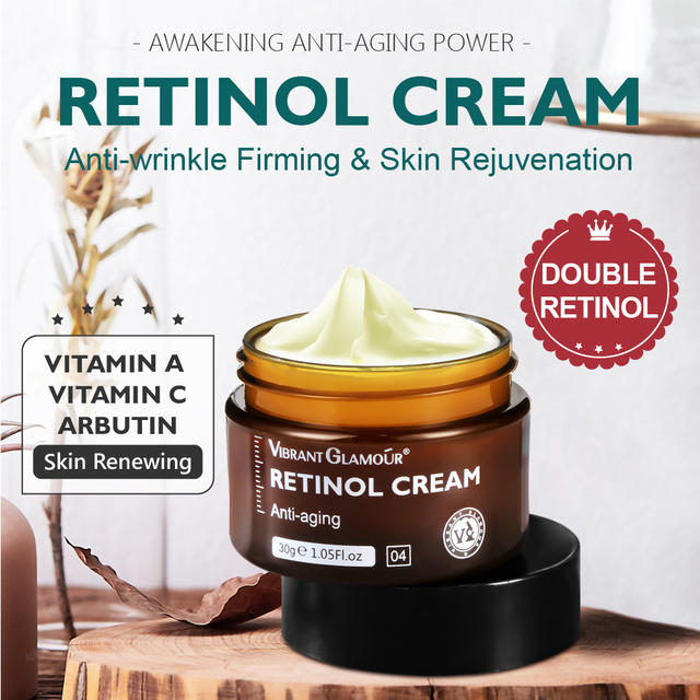 VIBRANT GLAMOUR-crema Facial Retinol, crema hidratante para el cuidado de la piel Facial, reafirmante y antiedad, blanqueador iluminador 3